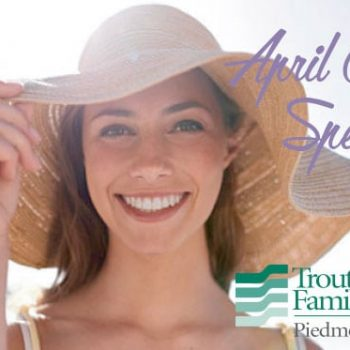 woman in sun hat - april cosmetic specials