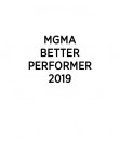 MGMA Better Performer 2019